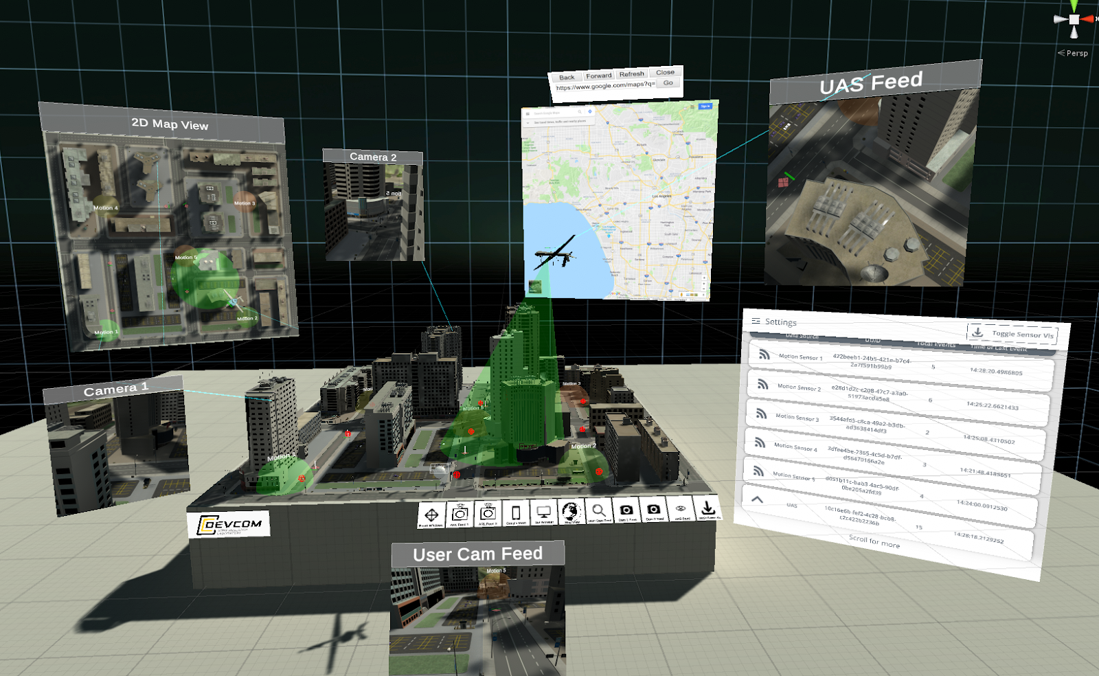 A virtual tactical operations center